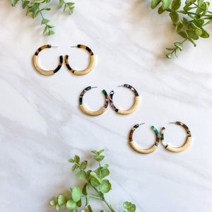 Acrylic Hoops with Gold Accent