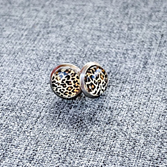 Brad's Deals - Tiny Leopard Studs