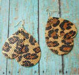 Leopard Print Teardrop Earrings