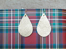 Load image into Gallery viewer, Leather Teardrop Earrings