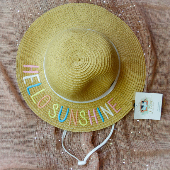 Hello Sunshine Kids CC Beanie Sun Hat