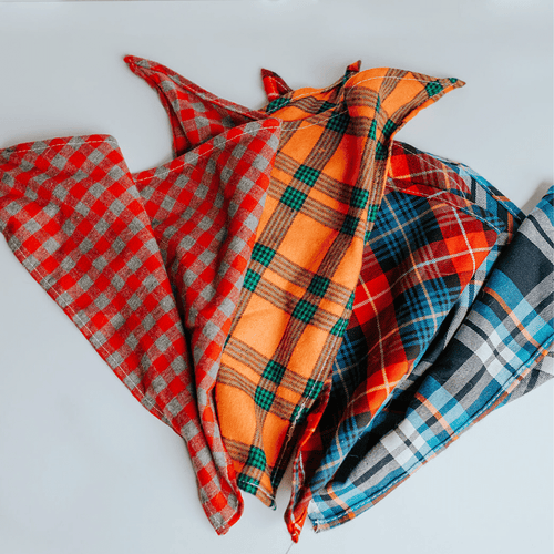 Plaid Pet Bandanas