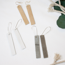"Load image into Gallery viewer, ""Mia"" Leather Bar Earrings"