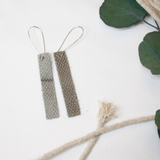 """Mia"" Leather Bar Earrings"