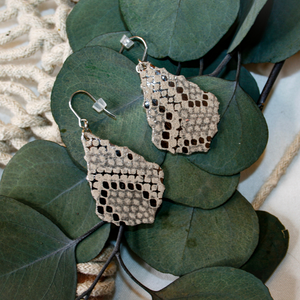 """Sarah"" Silver Scallop Earrings"