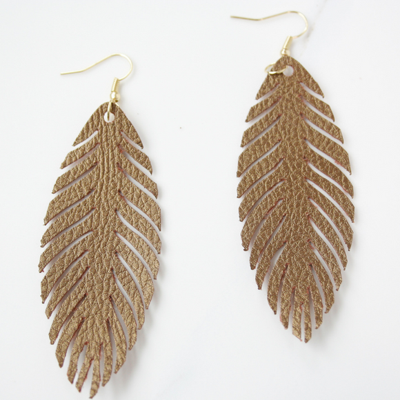"""Chloe"" Feather Earrings"