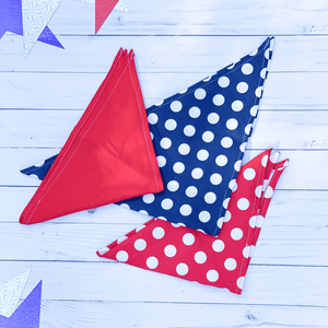 Handcrafted Red, White and Blue Pet Bandanas