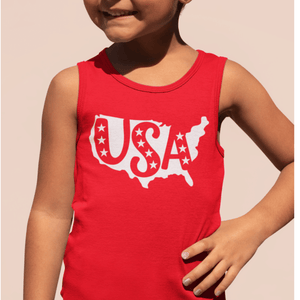USA Kids Red Tank