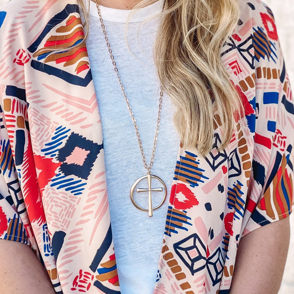 Long Chain Cross Necklace