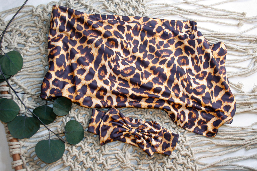 Leopard Swaddle Blanket Set
