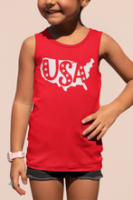 Load image into Gallery viewer, USA Kids Red Tank