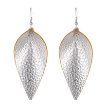 Load image into Gallery viewer, Faux Leather Feather Earrings