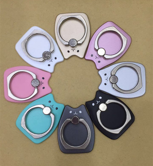 Finger Grip Ring Phone Holder, Rotation Plastic Stand For Smartphones, (Cat)