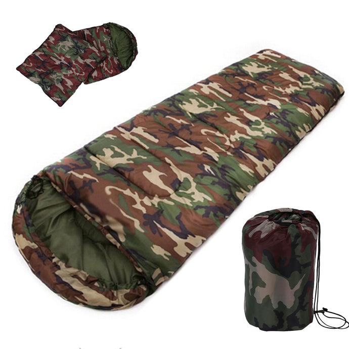 Gear, Cotton Camping sleeping bag,15~5 degree, envelope style, Military, camouflage sleeping bags