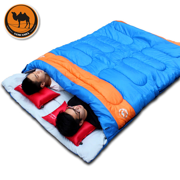 Gear, double person sleeping bag, outdoor camping couples sleeping bag