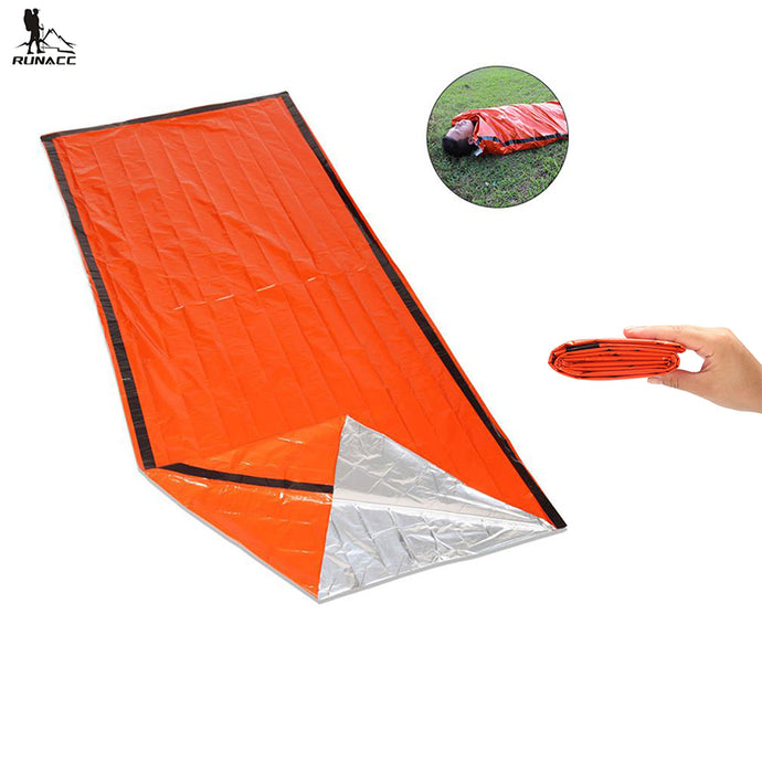 Gear, Emergency Sleeping Bag, Emergency Bivvy First Aid Sleeping Bag For Outdoor Camping and Hiking, Orange