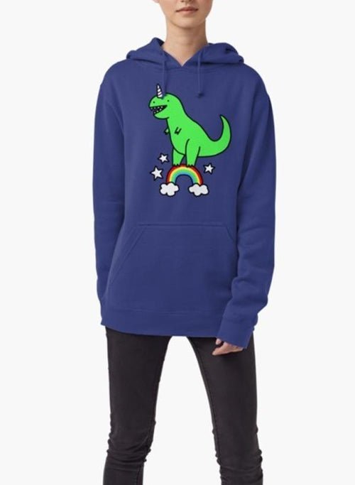 T-Rexicorn HOODIE BLUE