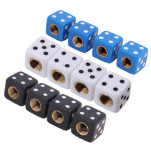 4Pcs Tire Air Valve Cap Tire Wheel  Stems for Auto Car Truck Motorcycle Bike Caps, Black White Blue