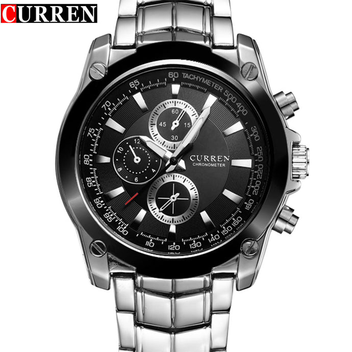 CURREN Watch, Men's Luxury Waterproof Full Steel Business Quartz Watch