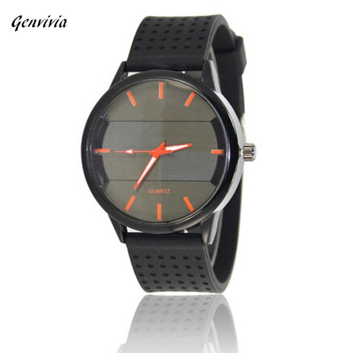 Mens Watch Waterproof Luxury Quartz Sport Military Stainless Steel Dial Leather Band Wrist Watch
