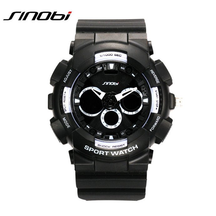 SINOBI dual display men's leisure sports waterproof watch