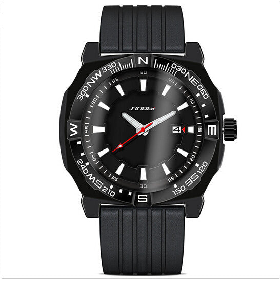 SINOBI sport men's top brand waterproof watch