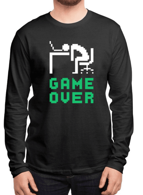 Game Over Full Sleeves T-shirt