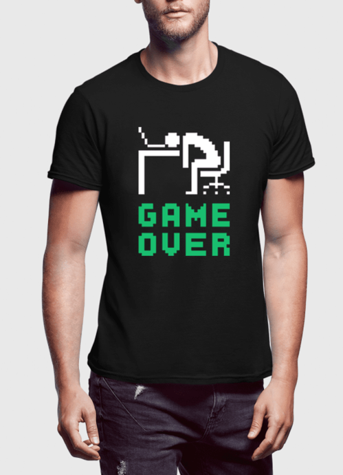 Game Over Half Sleeves T-shirt