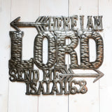 Here I Am Lord Upcycled Metal