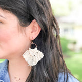 """Wings"" Macrame Earrings"