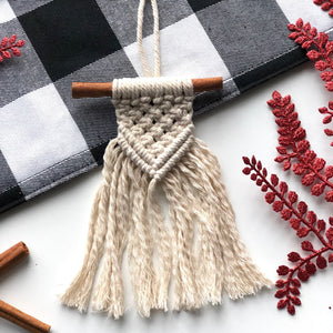 Mini Macrame Ornaments