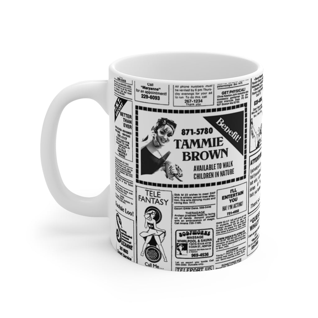 Tammie Brown Newsprint Mug