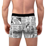 Load image into Gallery viewer, Tammie Brown Newsprint Boxer Briefs