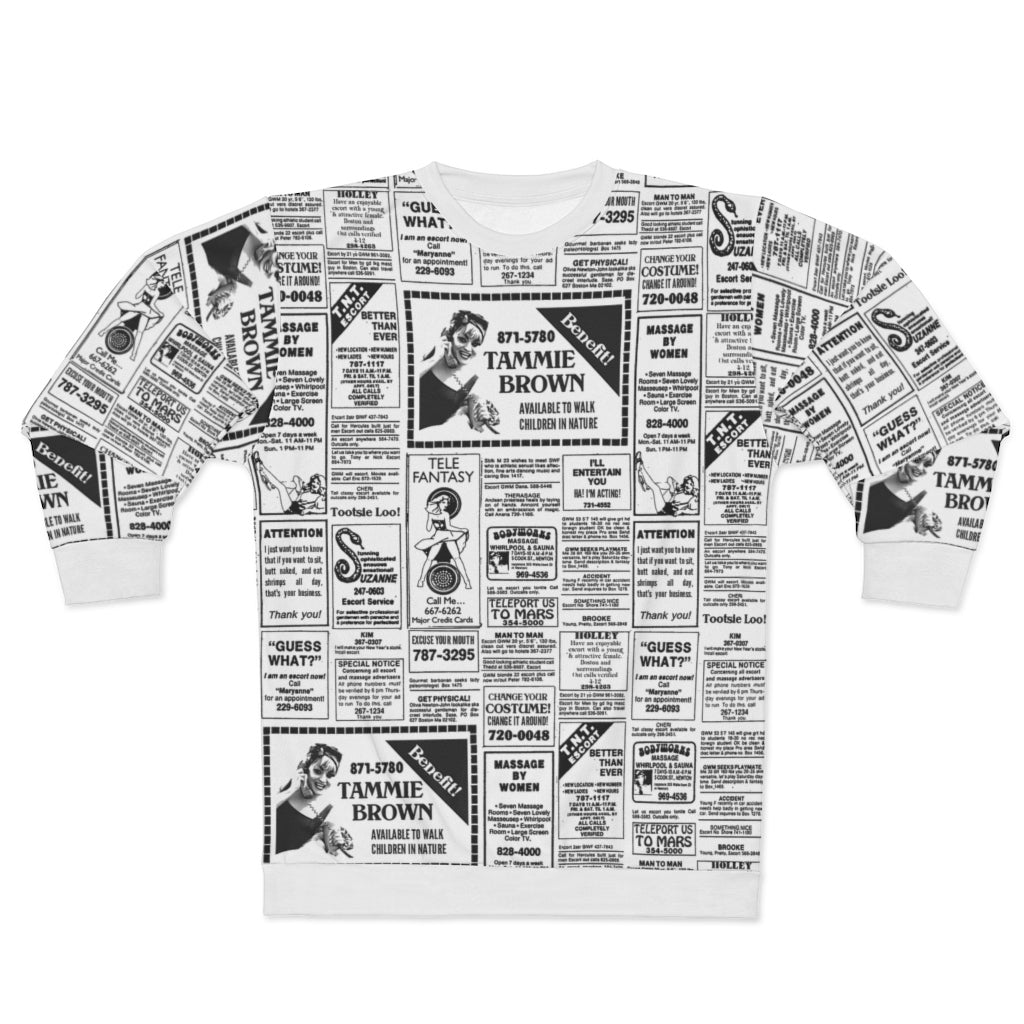 Tammie Brown Newsprint Sweatshirt