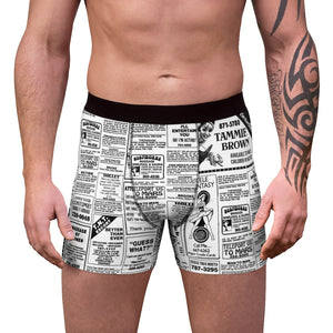 Tammie Brown Newsprint Boxer Briefs