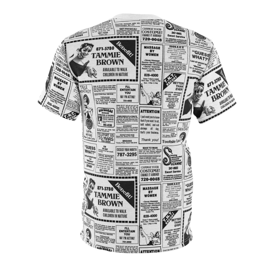 Tammie Brown Newsprint Unisex Shirt