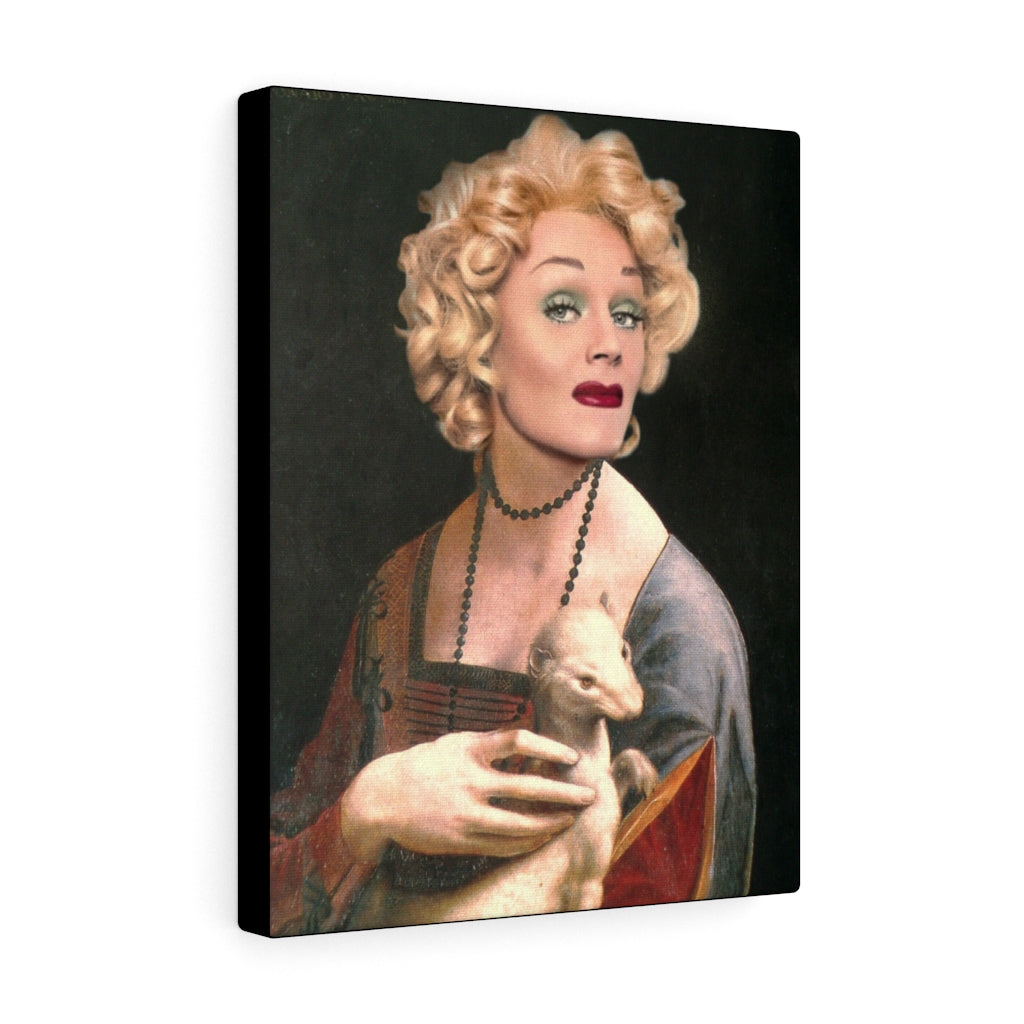 Tammie Brown Tammie with an Ermine Wrapped Canvas