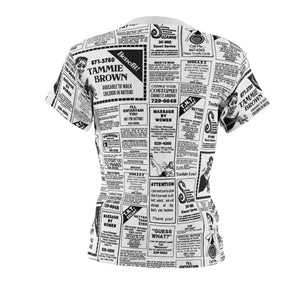 Tammie Brown Newsprint Feminine Shirt
