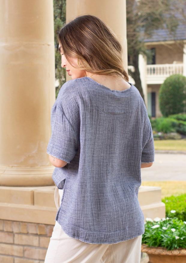 CHAMBRAY ALL DAY TOP
