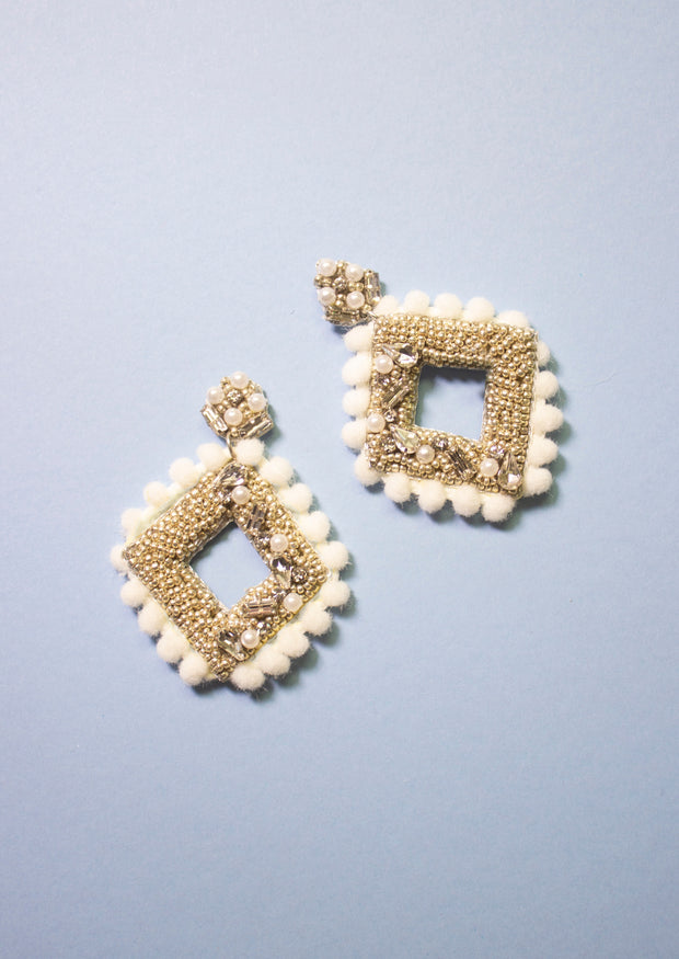 BOHEMIAN DREAMS POM EARRINGS