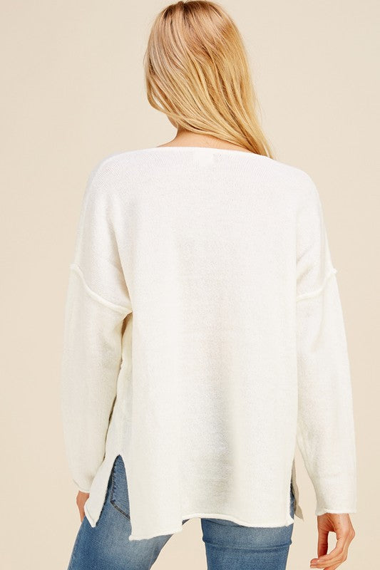 SOFTLY SPOKEN IVORY SWEATER