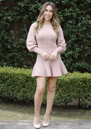 OVERFLOWING WITH LOVE DRESS - ROSE