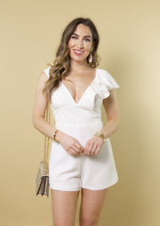 OUR LOVE SONG RUFFLE ROMPER