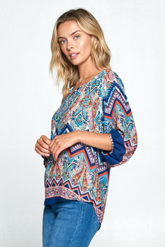 PERFECTLY PAISLEY PRINT BLOUSE