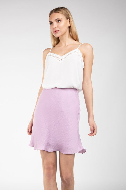 MINI SKIRT - LAVENDER