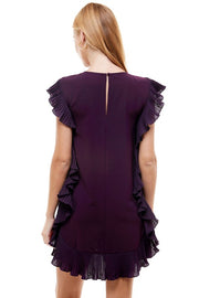 FLIRTING WITH FUN PLUM DRESS