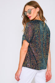 WINTER SUNSET SEQUIN TOP