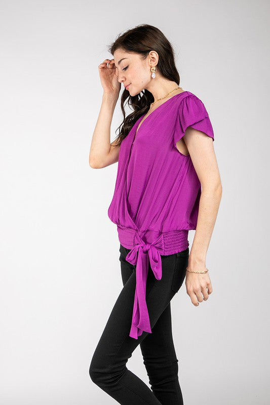 MULBERRY LANE WRAP BLOUSE