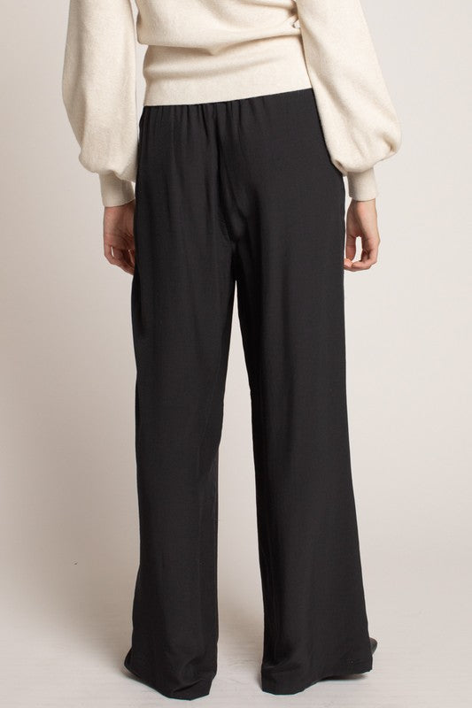 PERFECT NIGHT SLINK PANT - SAND & BLACK