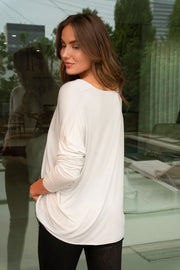 VENTI6: LIMOS & LATTES SILK DRAPED TOP